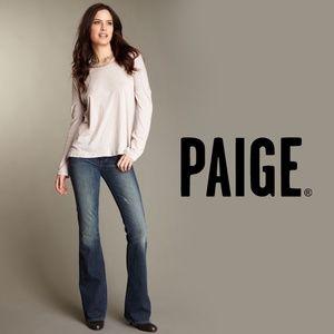 """PAIGE Vintage """"Laurel Canyon"""" Low Rise Flare Jeans"""